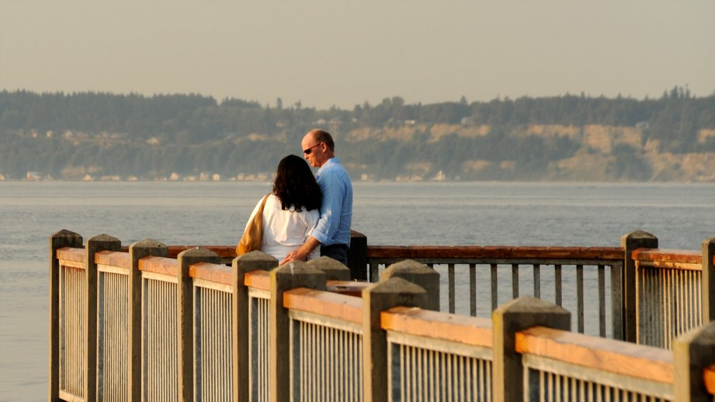 Mukilteo which includes views as well as a couple