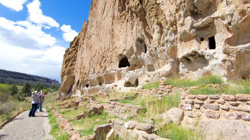 Bandelier National Monument which includes building ruins