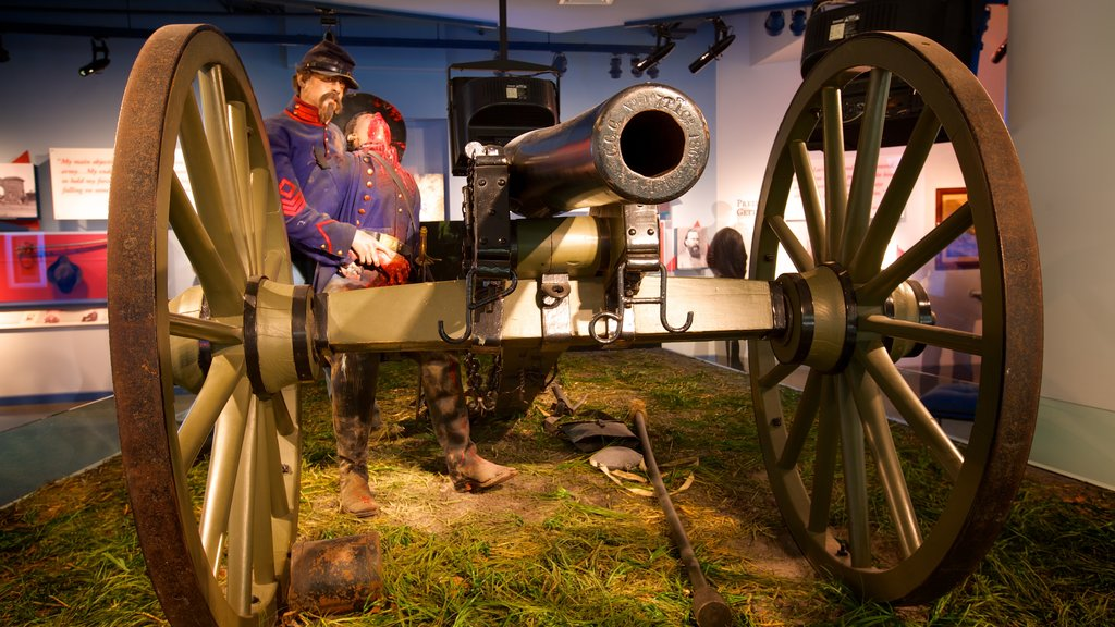 National Civil War Museum featuring interior views and military items