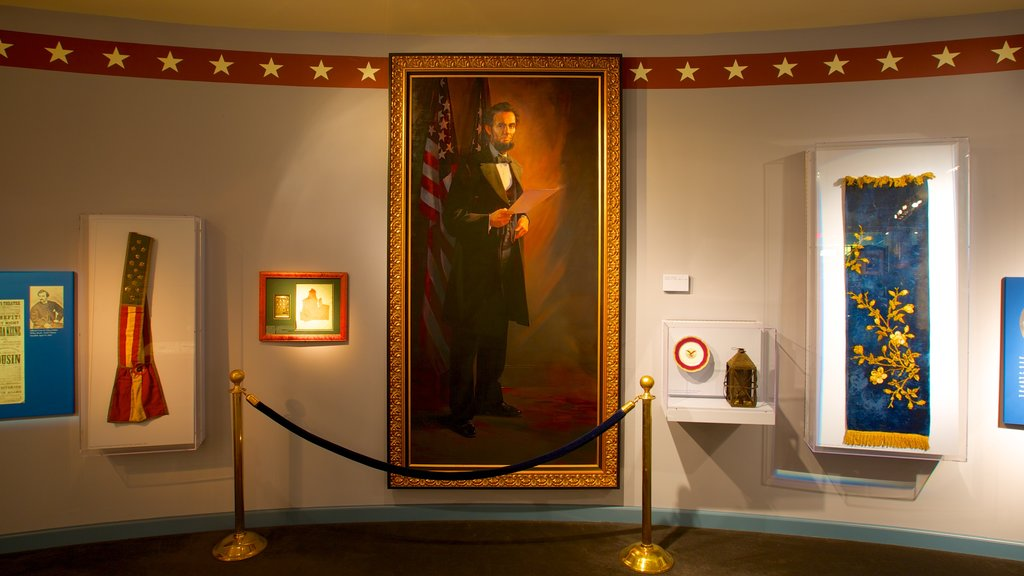 National Civil War Museum featuring interior views