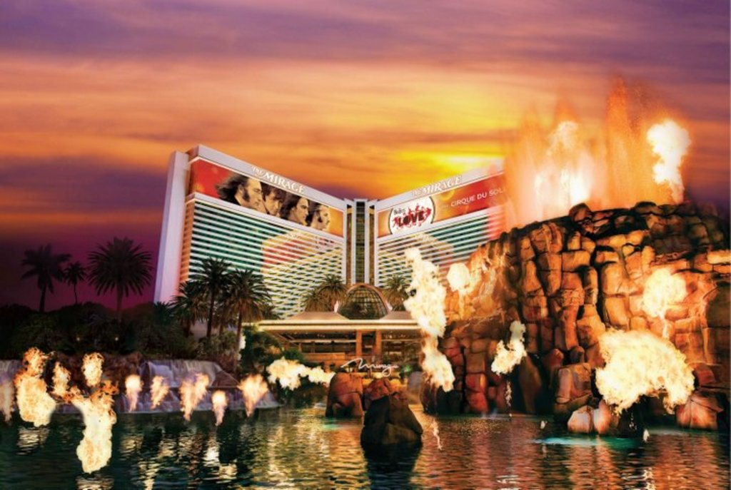 The Mirage's man-made erupting volcano Credit: MGM Resorts