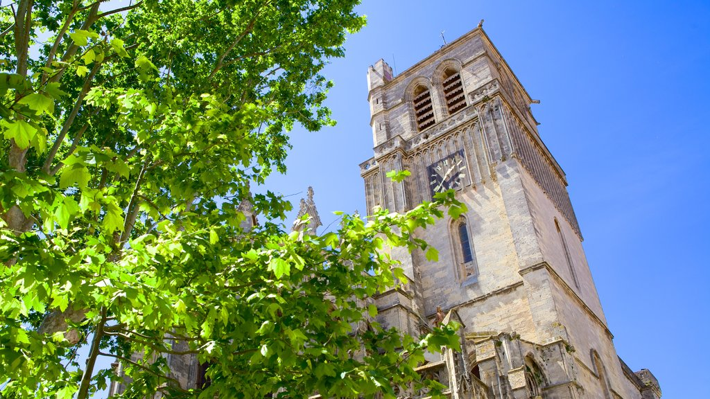 Beziers showing a church or cathedral and heritage architecture