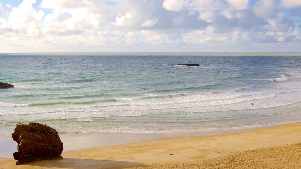 Biarritz which includes general coastal views and a beach