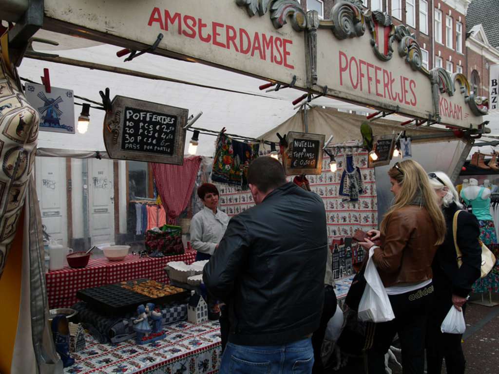 Sweet treats at the Albert Cuyp Market in Amsterdam. Image credit: Passion Leica.