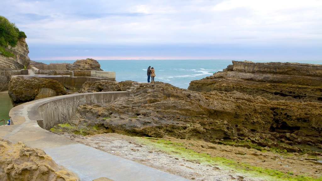 Biarritz City Centre featuring rugged coastline and general coastal views as well as a couple