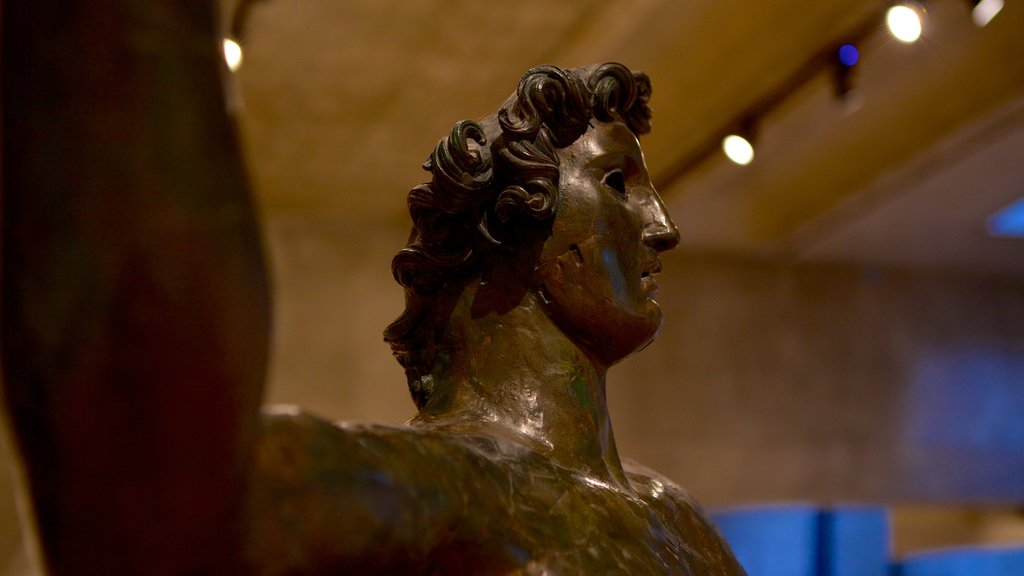 Gallo-Roman Museum featuring a statue or sculpture