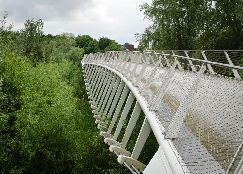 The wobbly bridge to the University