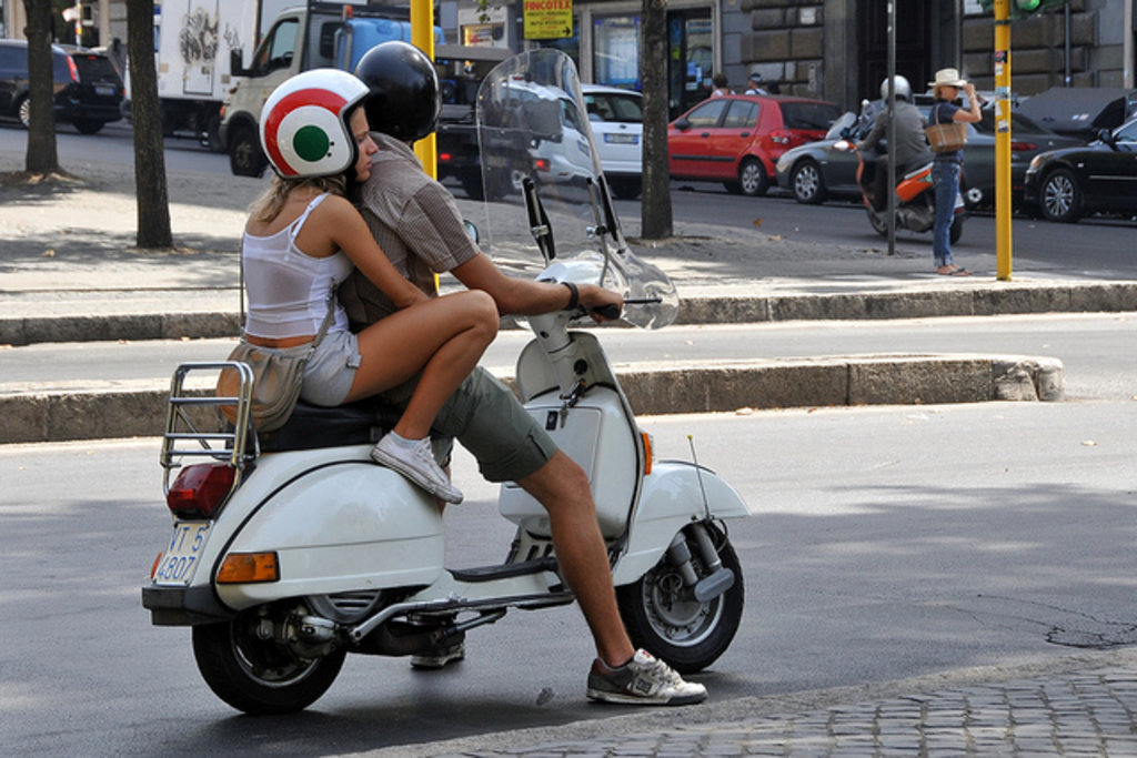 Renting a vespa in Rome