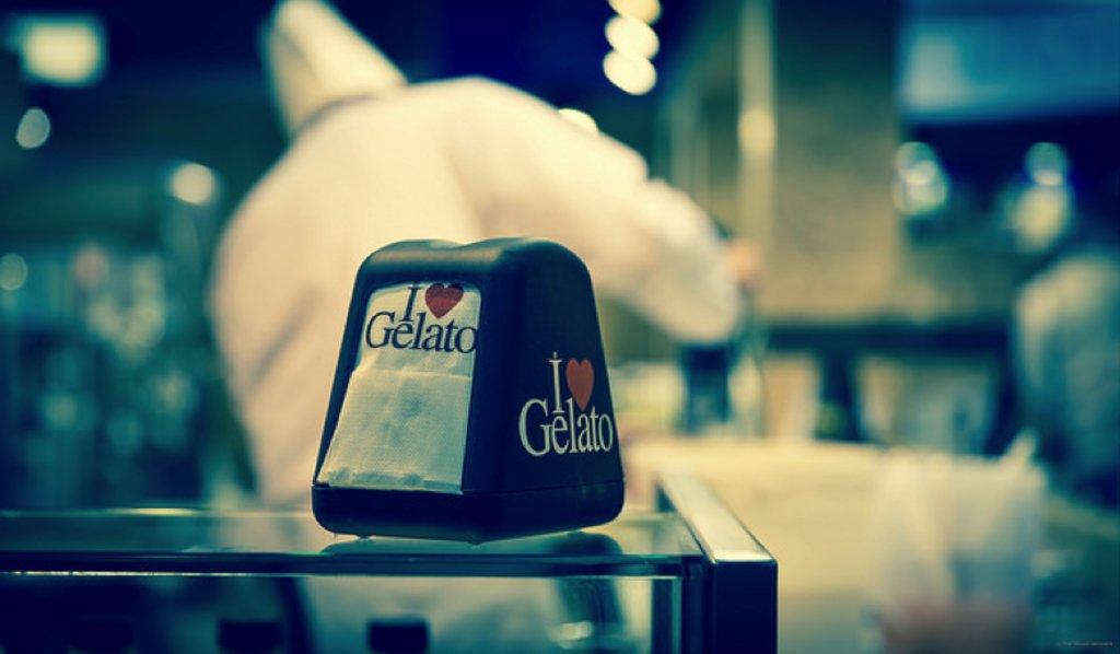 Gelato cafe in Rome