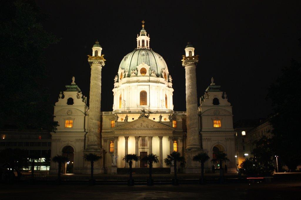 The Karlsplatz in Vienna