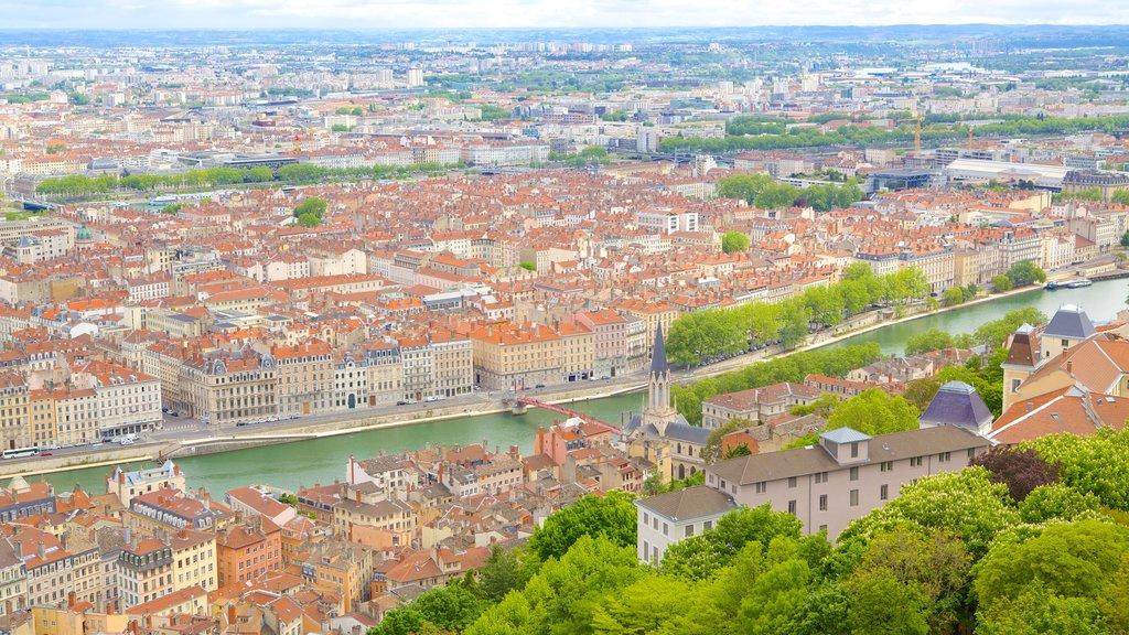Notre Dame Basilica showing a city