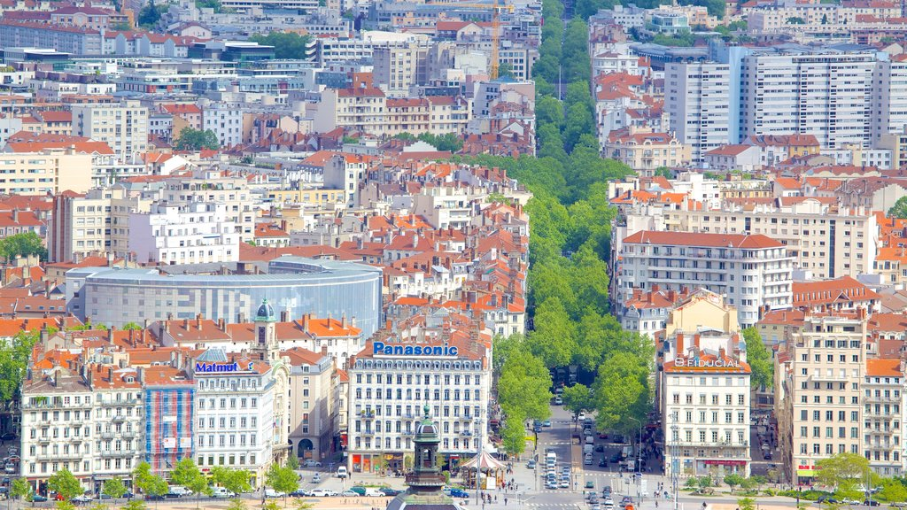 Notre Dame Basilica featuring a city