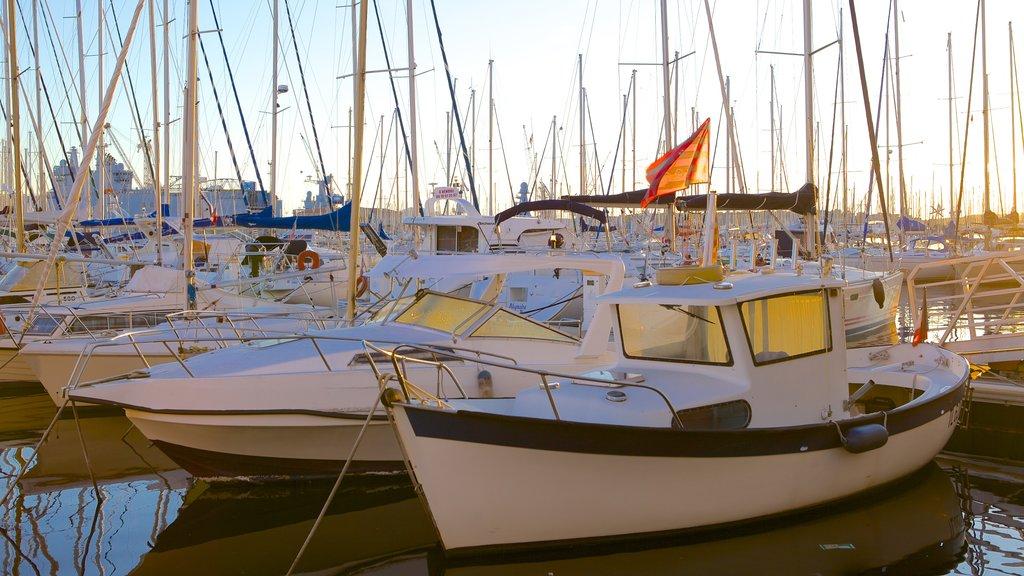 Toulon Marina showing a marina, sailing and boating