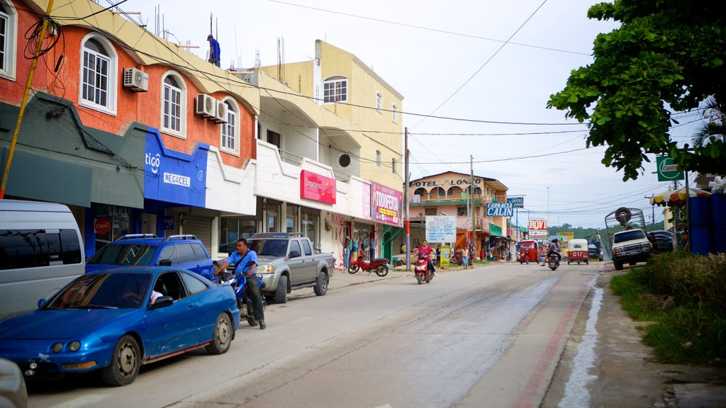Flores featuring motorcycle riding and street scenes