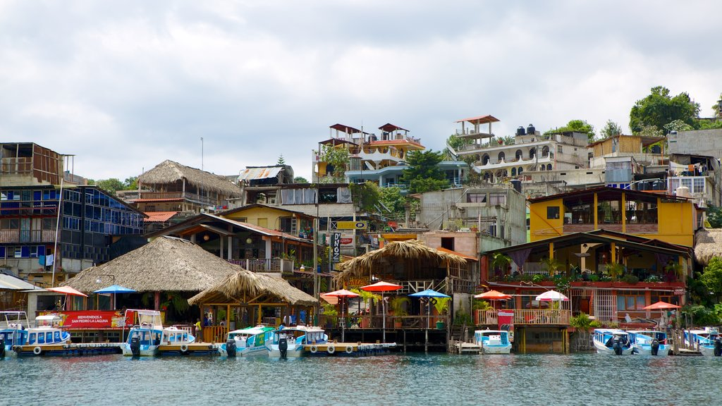 San Pedro La Laguna featuring a lake or waterhole and a small town or village