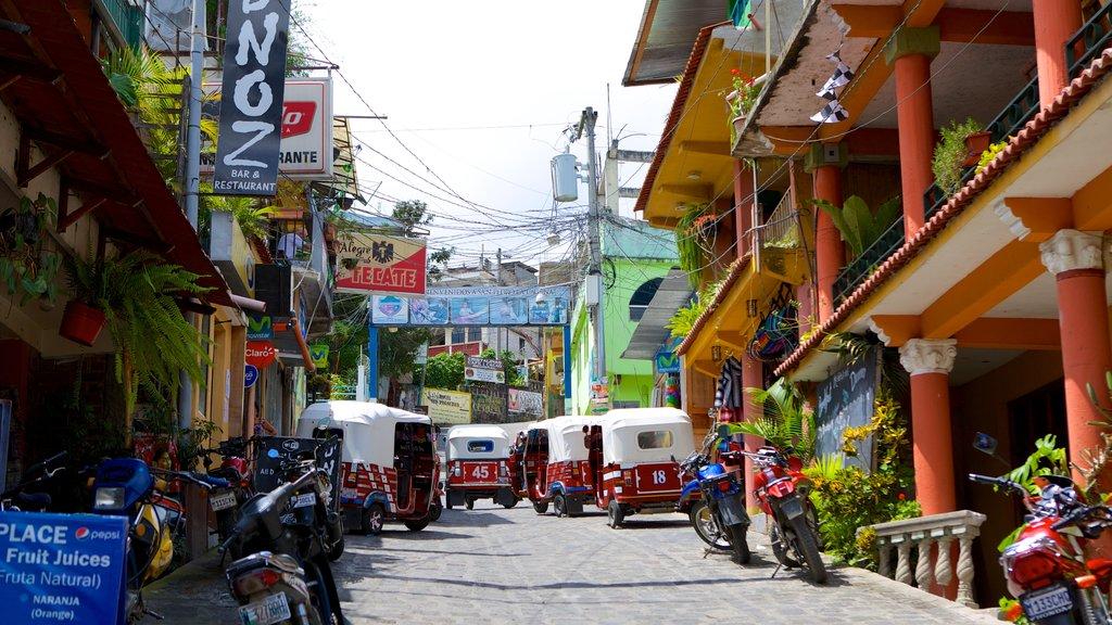 San Pedro La Laguna featuring street scenes