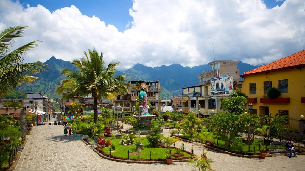 San Pedro La Laguna which includes street scenes and a square or plaza