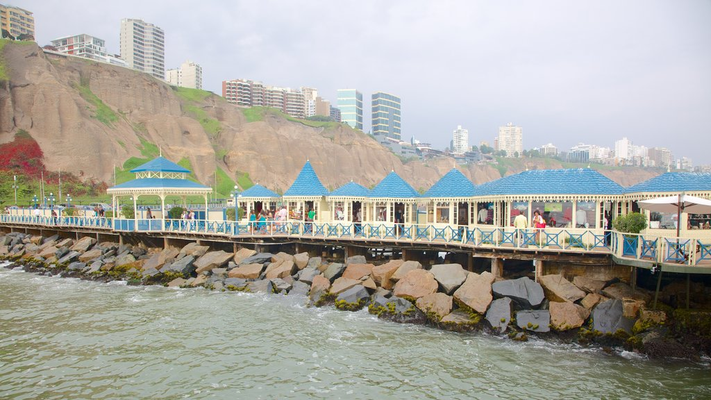 Lima featuring general coastal views and rocky coastline