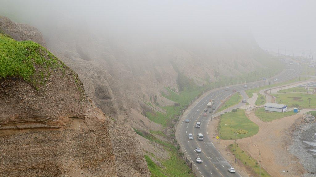 Lima showing landscape views and mist or fog
