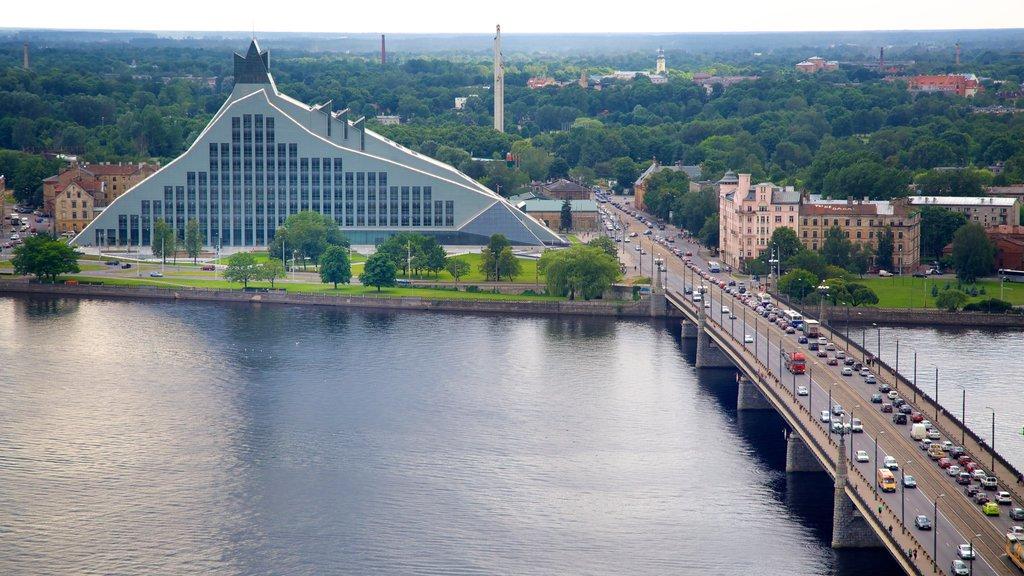 Riga showing a bridge and a river or creek