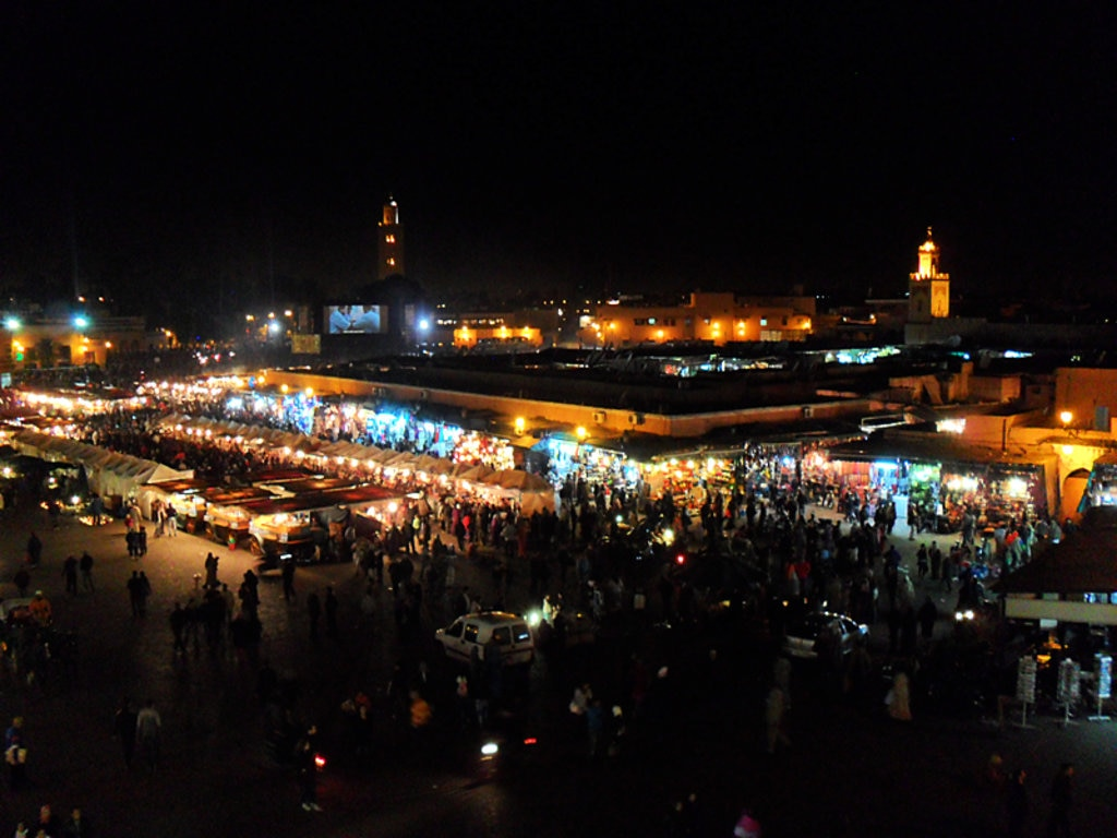 Souk at night, Marrakech