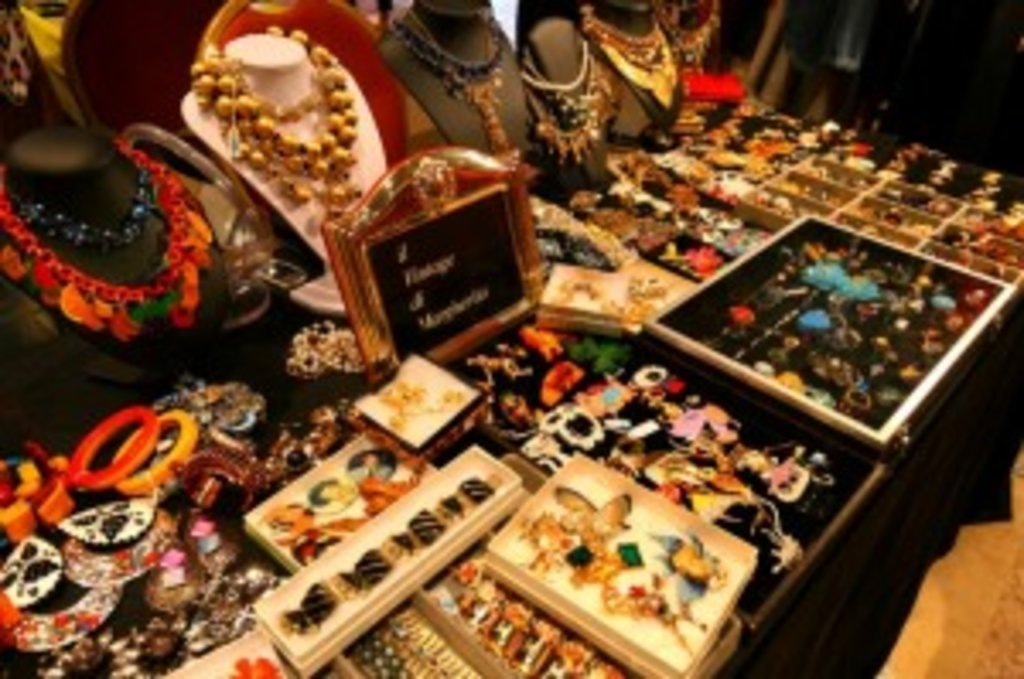beautiful selection of vintage jewellery in Rome