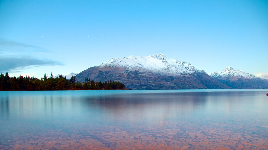 Queenstown featuring landscape views, mountains and a lake or waterhole