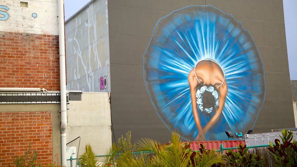 Christchurch que incluye arte al aire libre