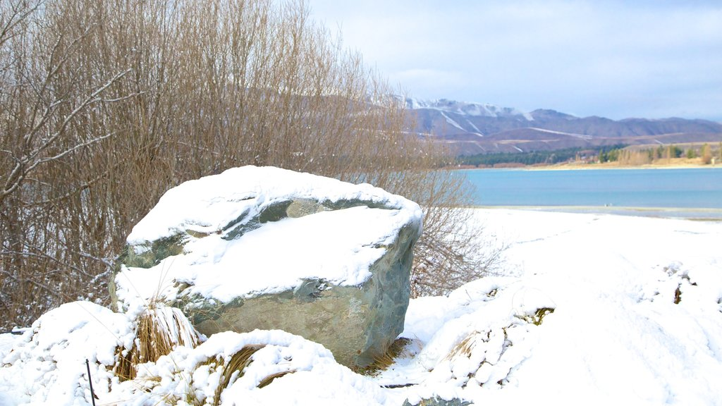 Tekapo Springs featuring snow