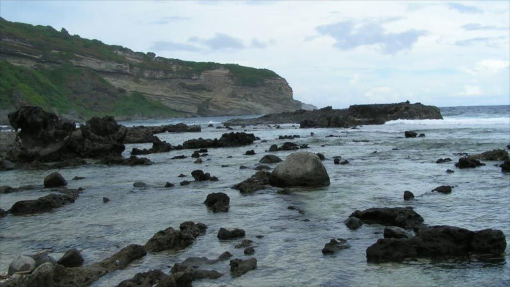 Saipan featuring landscape views and rocky coastline