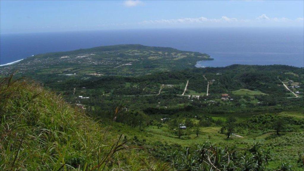 Saipan featuring landscape views, general coastal views and hiking or walking