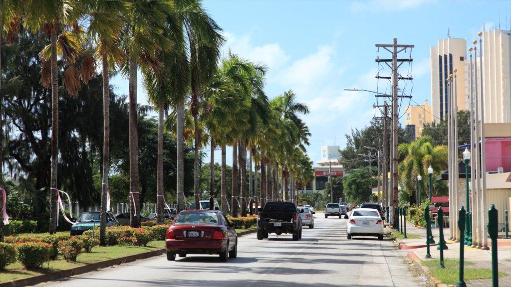 Saipan featuring street scenes