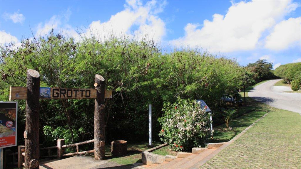 Saipan showing farmland, landscape views and signage