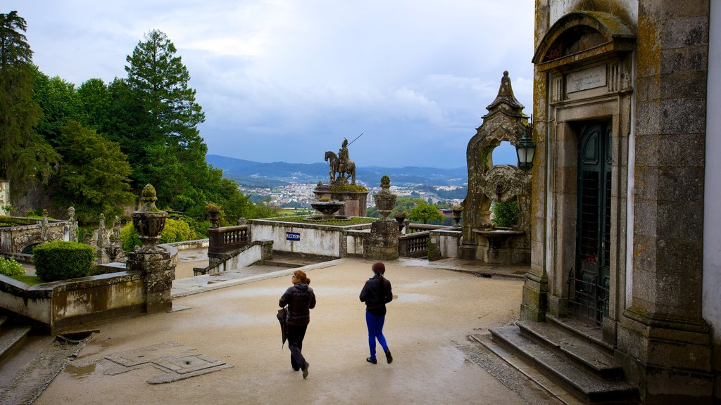 Bom Jesus do Monte which includes a castle as well as a small group of people