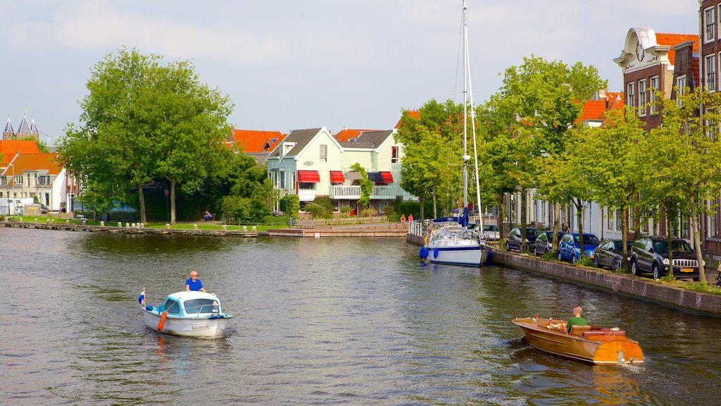 Haarlem showing a river or creek and boating