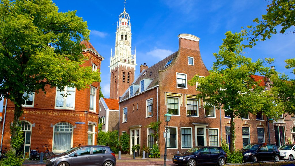 Haarlem showing street scenes