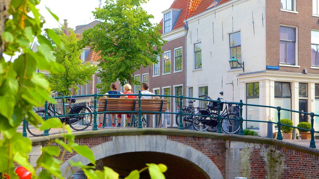 Haarlem which includes a bridge and a small town or village