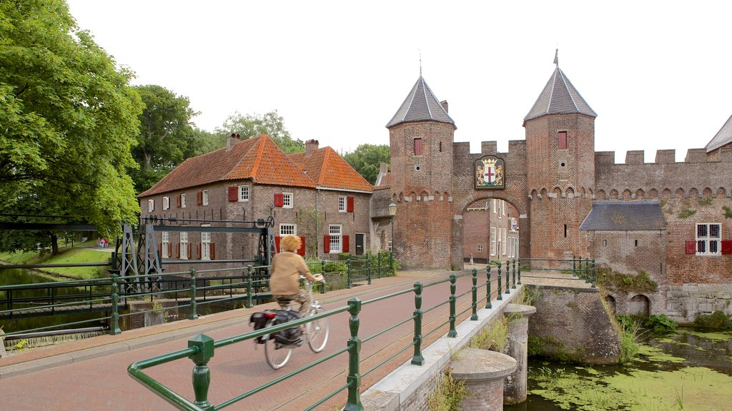 Amersfoort showing chateau or palace, cycling and a river or creek