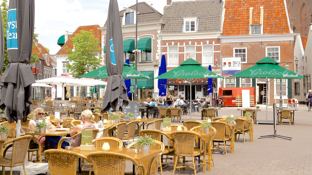 Amersfoort featuring cafe lifestyle, street scenes and outdoor eating