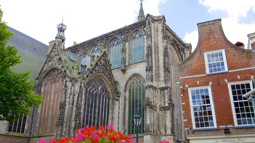 Oude Kerk showing heritage elements, heritage architecture and a church or cathedral