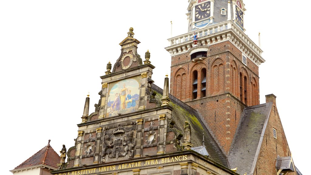 Waag which includes heritage elements, heritage architecture and a church or cathedral