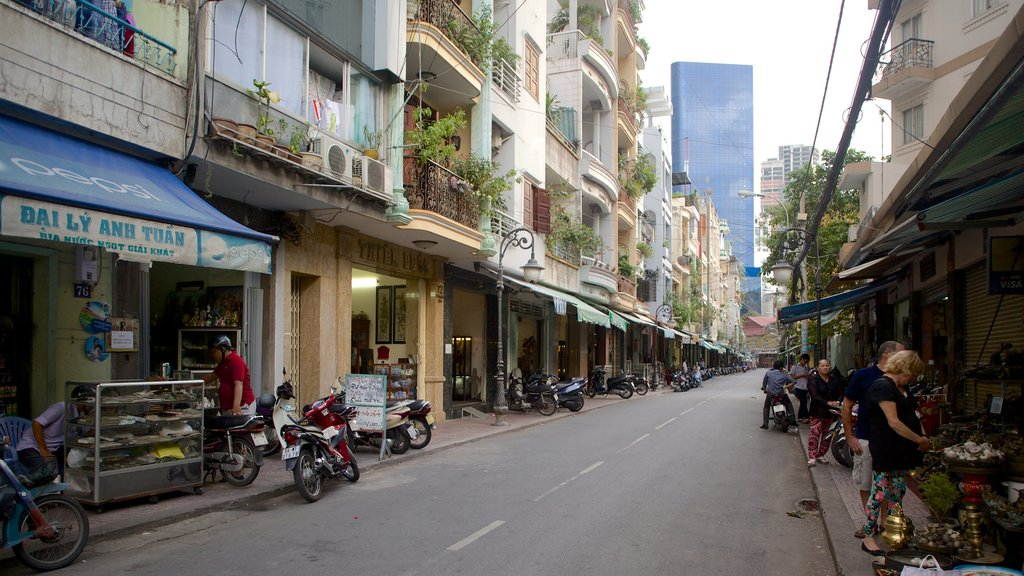Southern Vietnam featuring street scenes and markets