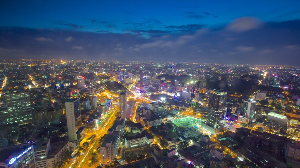 Ho Chi Minh City which includes night scenes and a city
