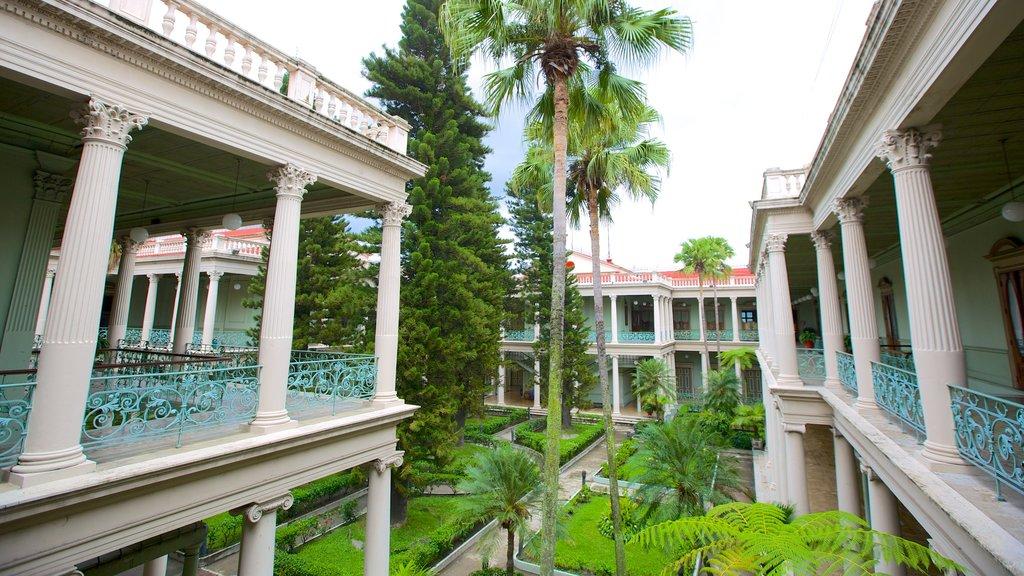 Palacio Nacional showing tropical scenes and a castle