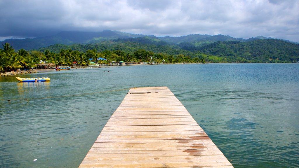 Omoa showing landscape views and general coastal views