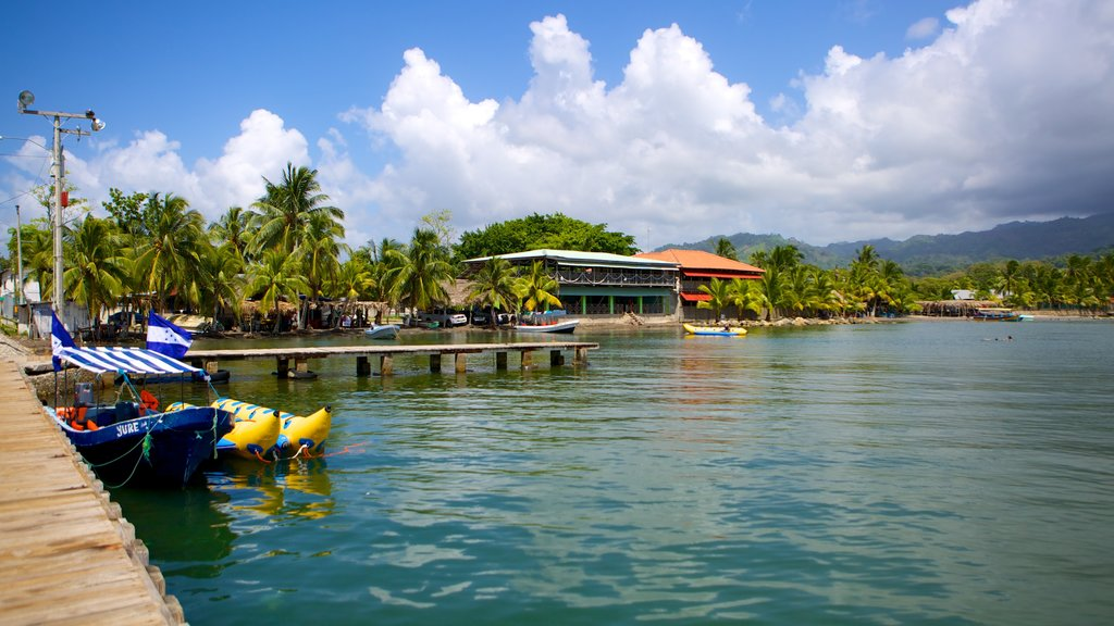 Omoa featuring boating, tropical scenes and general coastal views