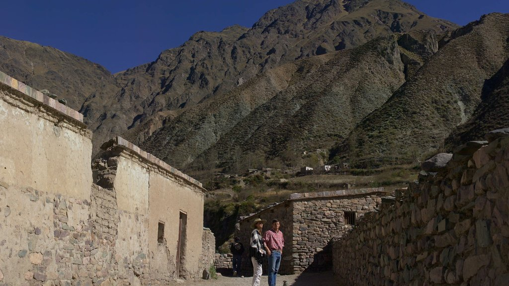 Salta showing mountains, a ruin and heritage elements