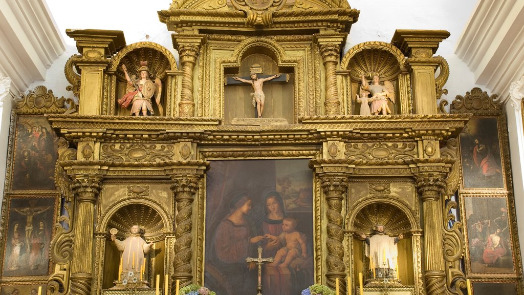 Cordoba which includes a church or cathedral, interior views and religious elements