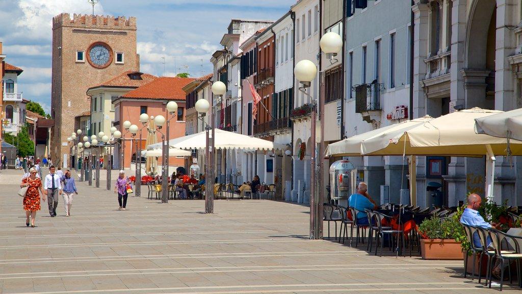 Piazza Ferretto featuring street scenes