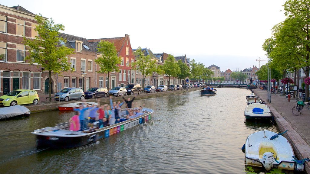 Leiden featuring a river or creek and boating